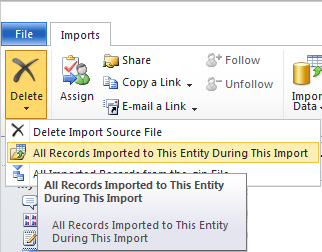 how to delete salesforce view from command button in outlook