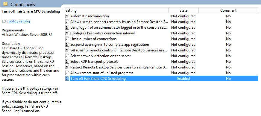 Tuning Remote Desktop Services 2012 for Microsoft Dynamics