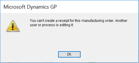 error you can t create an receipt for this manufacturing order
