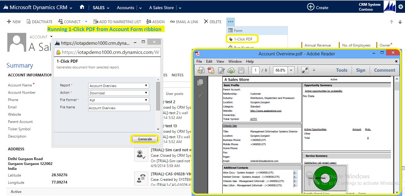 Downloading Or Emailing Microsoft Dynamics Crm Reports As Pdf Word