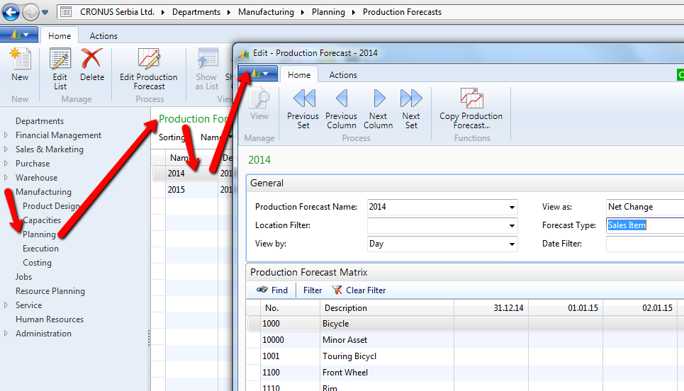 inventory planning part 9 manufacturing planning in microsoft