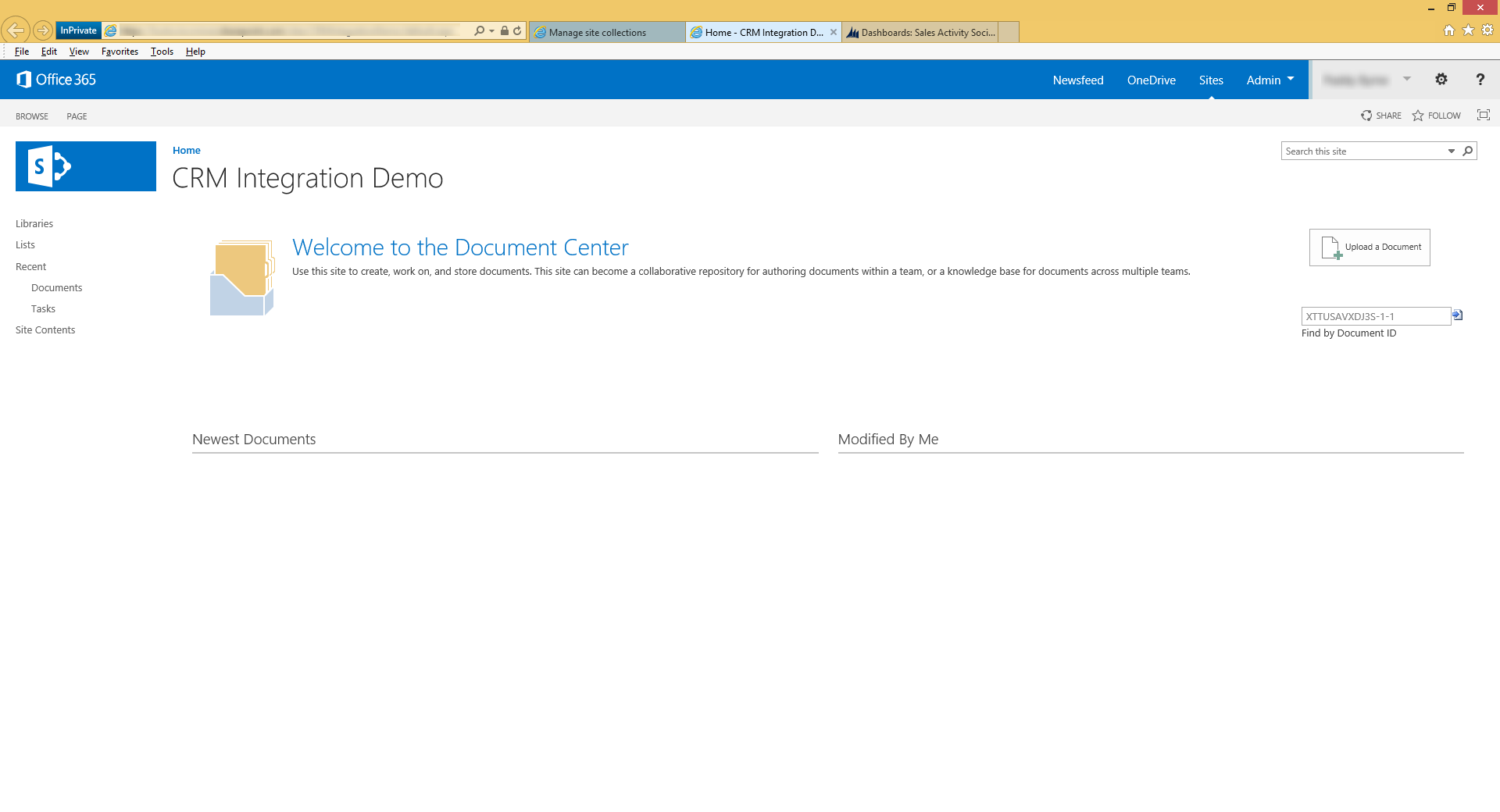 Integrating Microsoft Dynamics CRM with SharePoint Online ...