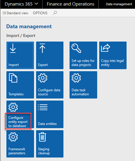 Configuring BYODW using data entities in Microsoft Dynamics