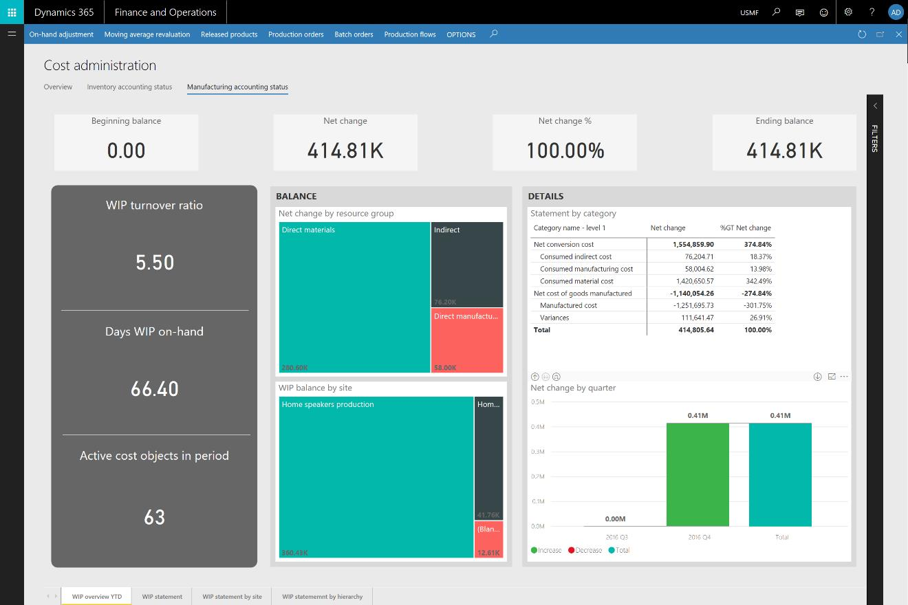 Preview of what's coming in Spring 2018 in Dynamics 365 for Finance