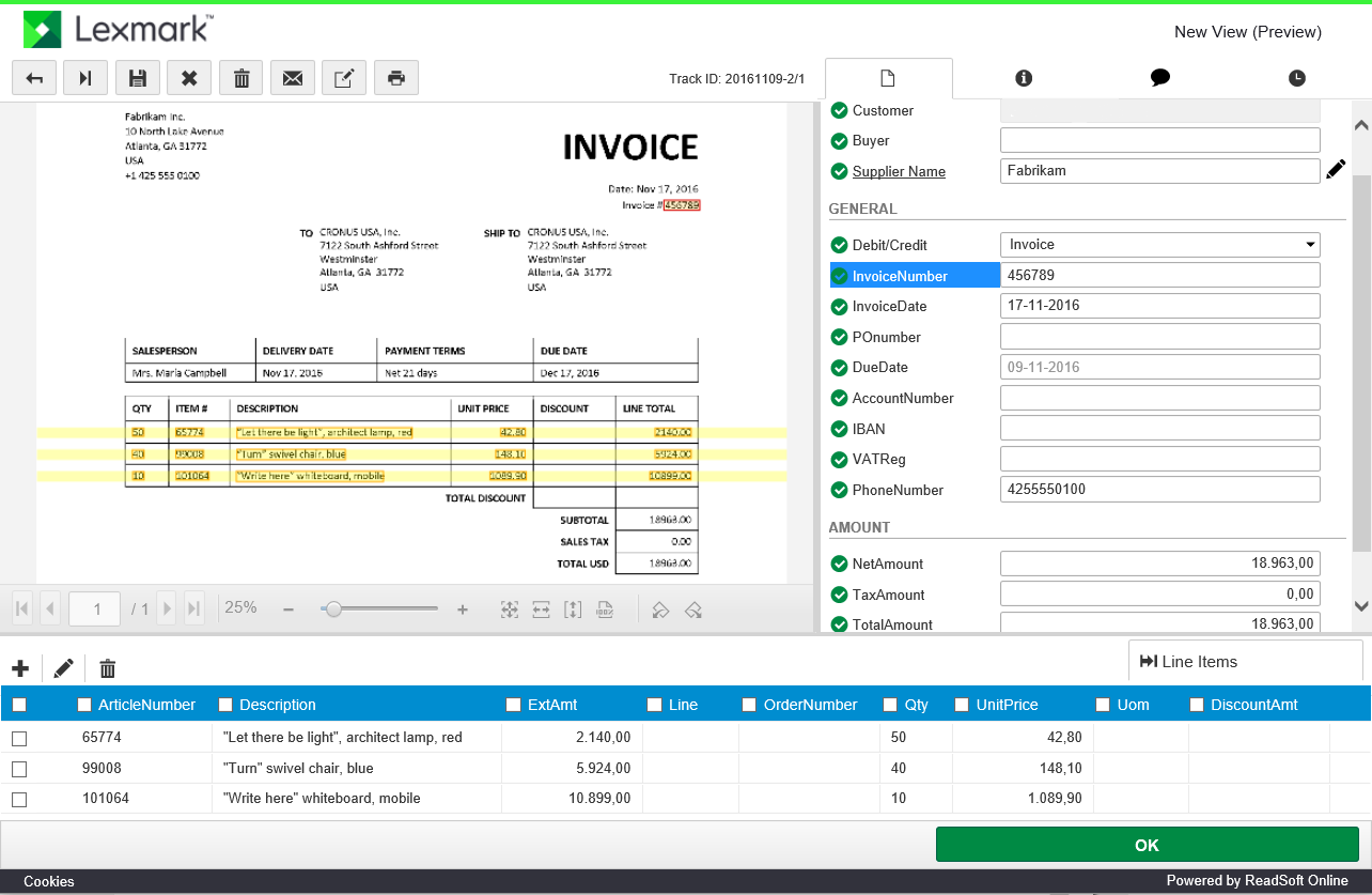 capture invoices with dynamics 365 for financials