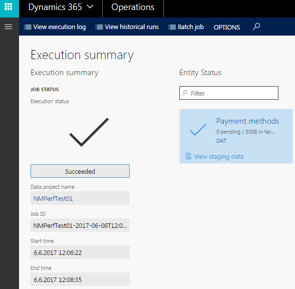 Dynamics 365 for Operations integration performance tuning