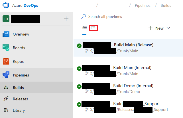 Working with build pipelines (build definitions) - Finance