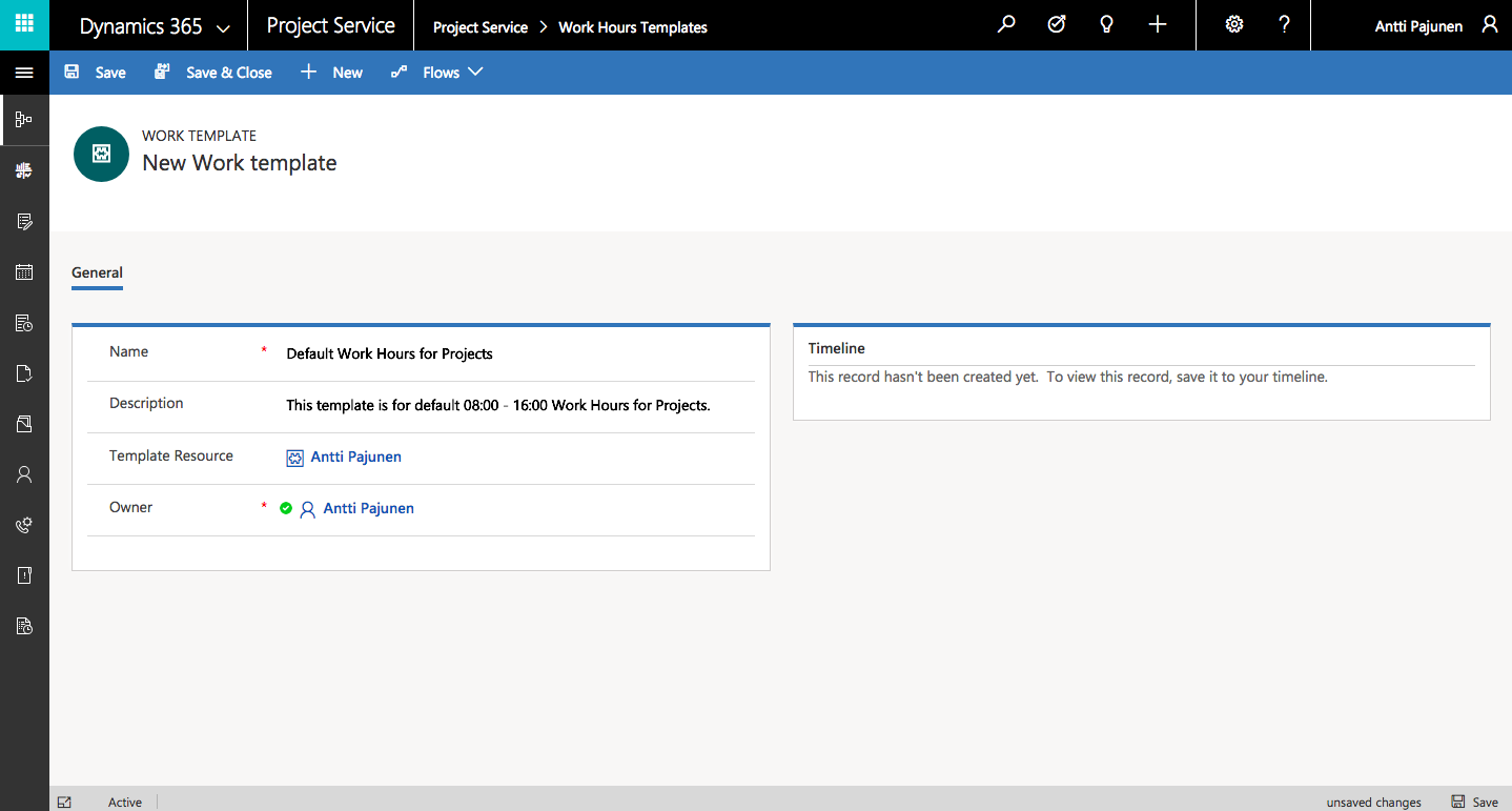 Dynamics 365 Project Service Automation: Setting a new ...