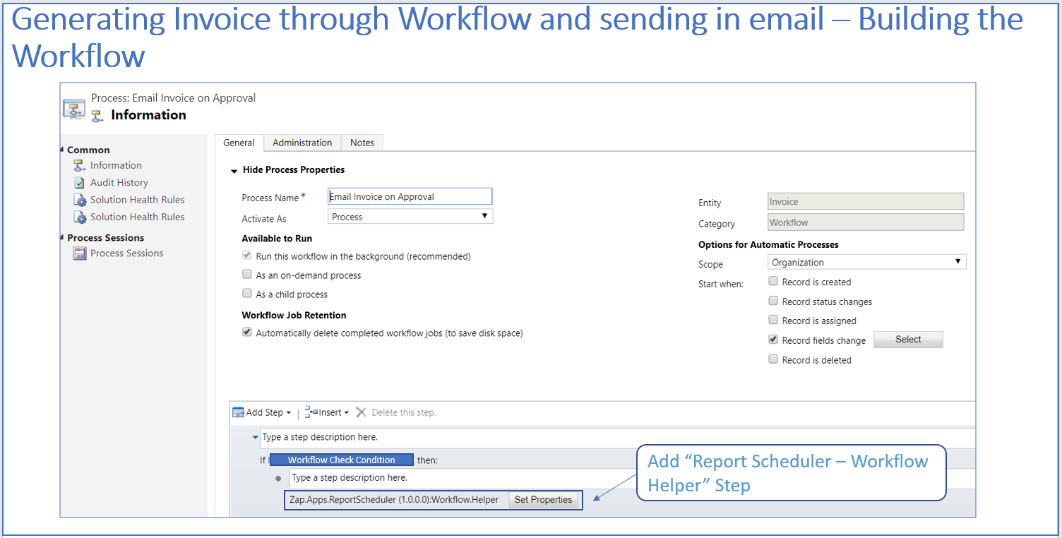 Automatically email Dynamics 365 CRM Report as a PDF/Excel