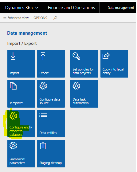 Dynamics 365 Finance and Operations: BYODB – Bring your own
