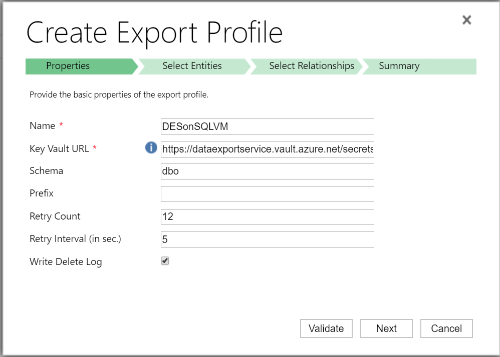 How To: Configure Data Export Service with SQL Server on an