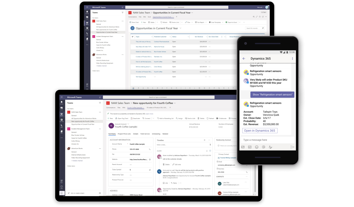 Microsoft Teams Integration With Dynamics 365 Is Generally