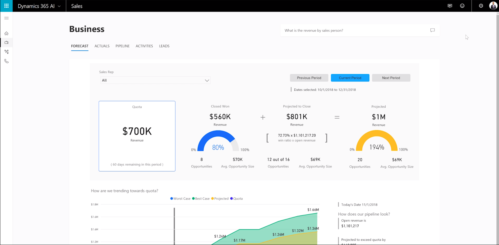 Microsoft Dynamics 365 AI for Sales (video on-boarding