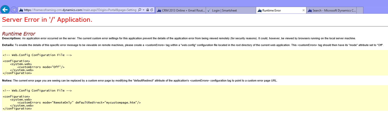 Server Error in '/' Application- Runtime Error - Microsoft