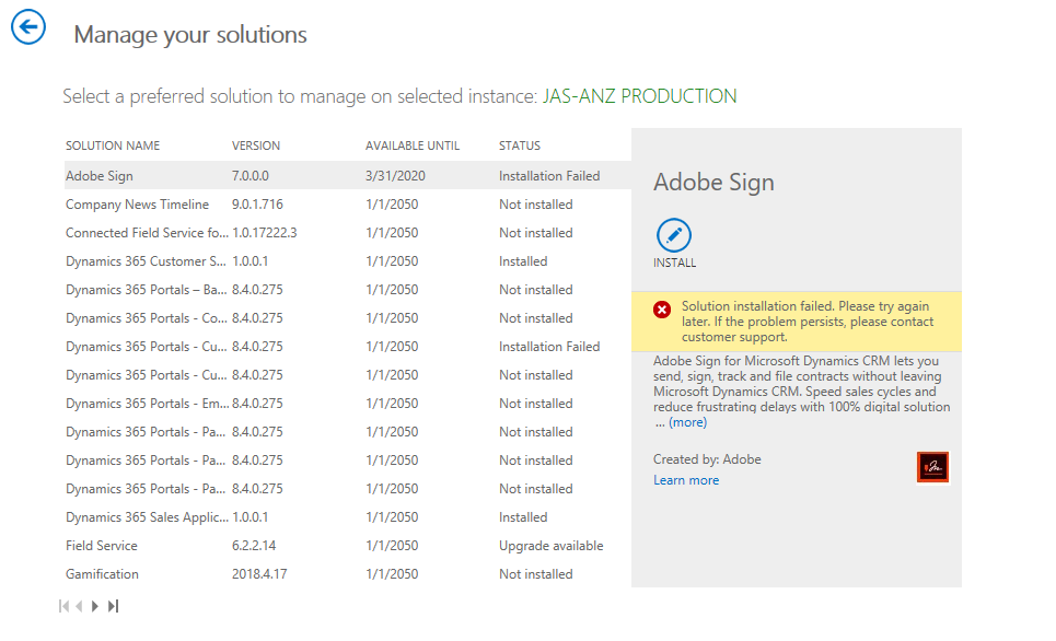 Installing a Dynamics Add In from the MS App store