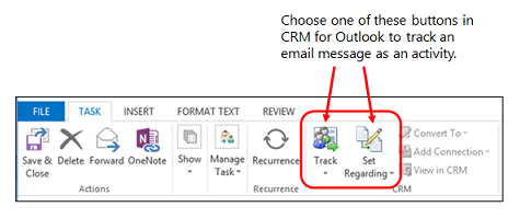 Tracking flag on VBA - email properties - Microsoft Dynamics CRM