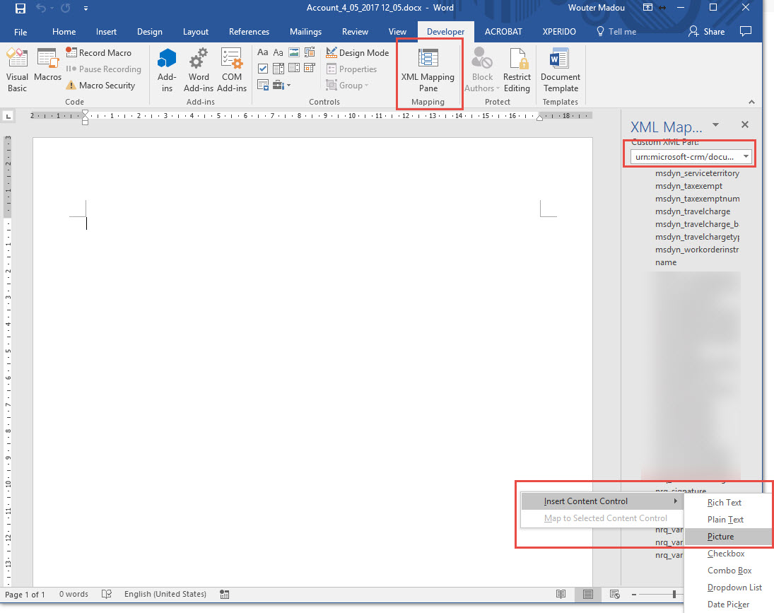 Dynamics 365 signature in generated word-template - Microsoft ...