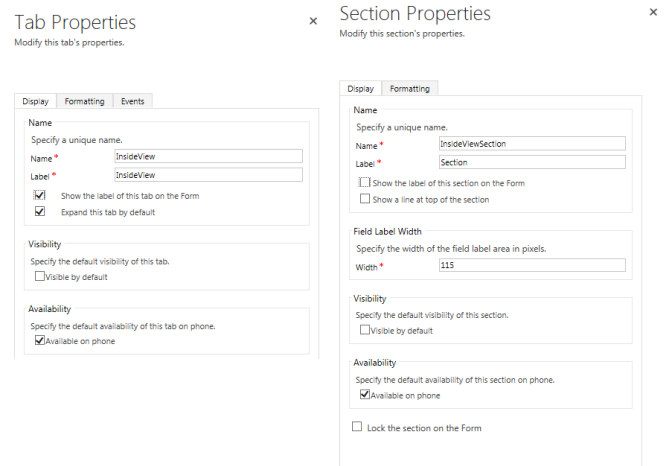 Setting Form Tab Visibility based on Role only working on