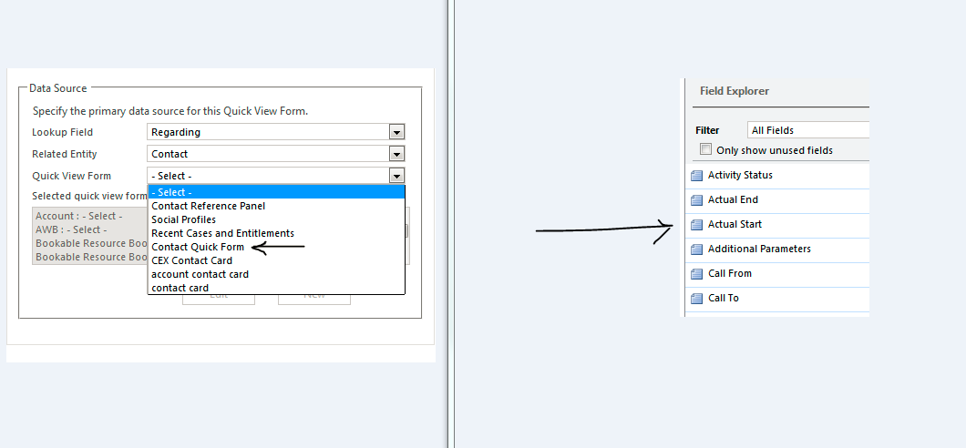 Add field of one entity to another - Microsoft Dynamics CRM