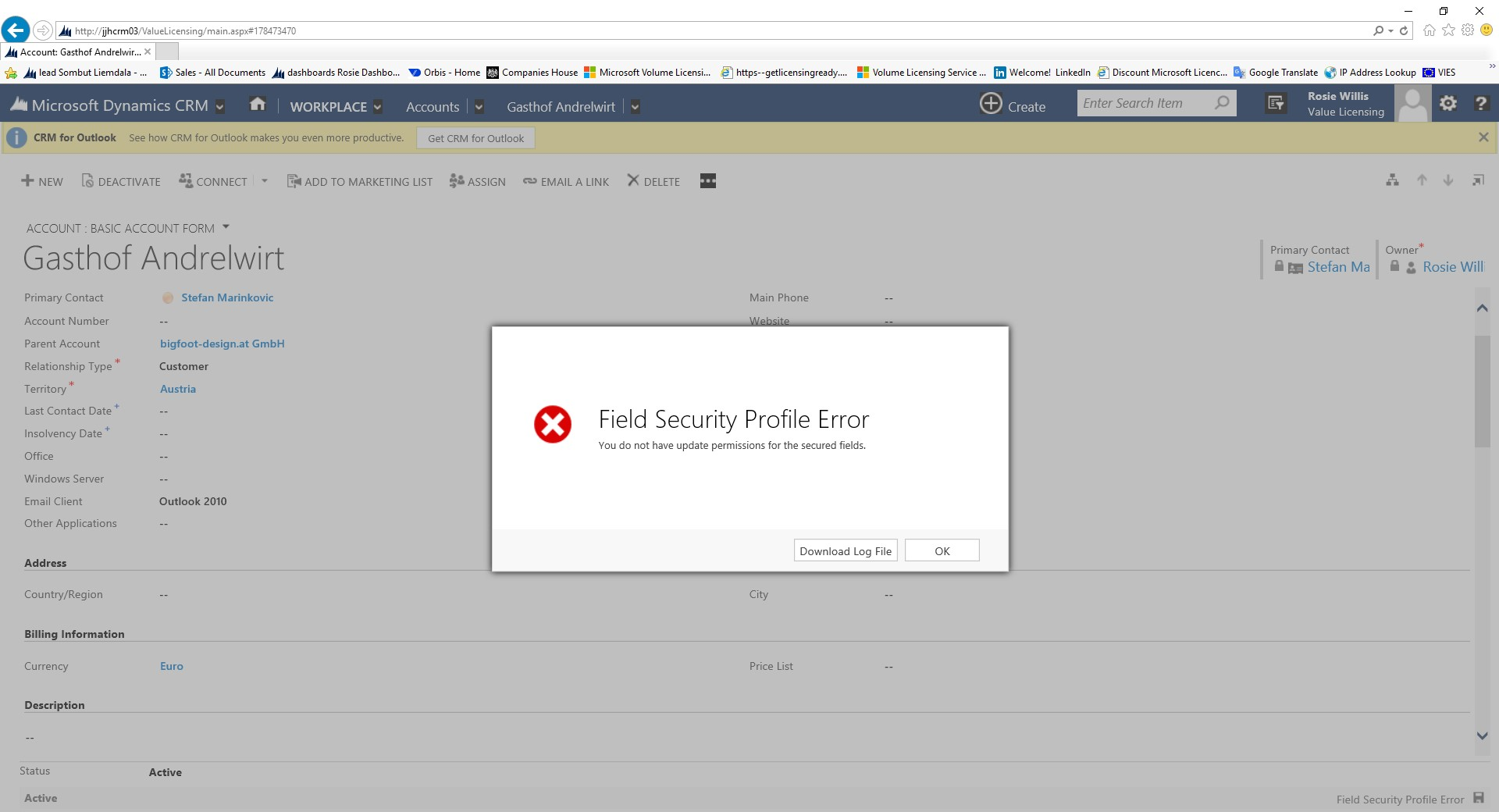 Field security Profile error when updating currency field ...