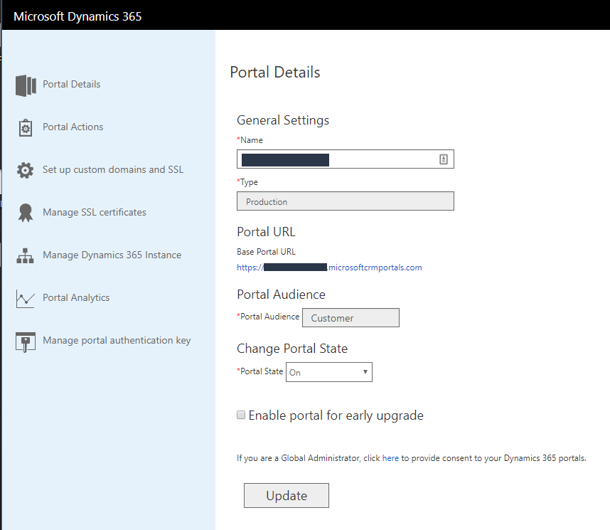 How to change base URL of Dynamics 365 Add-on Portal