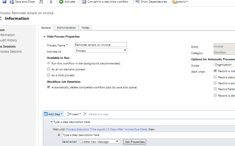 how to send email in microsoft dynamics crm