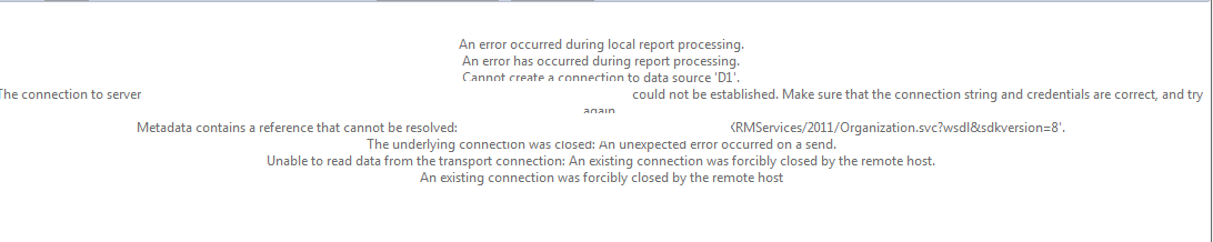 How resolve An existing connection was forcibly closed by
