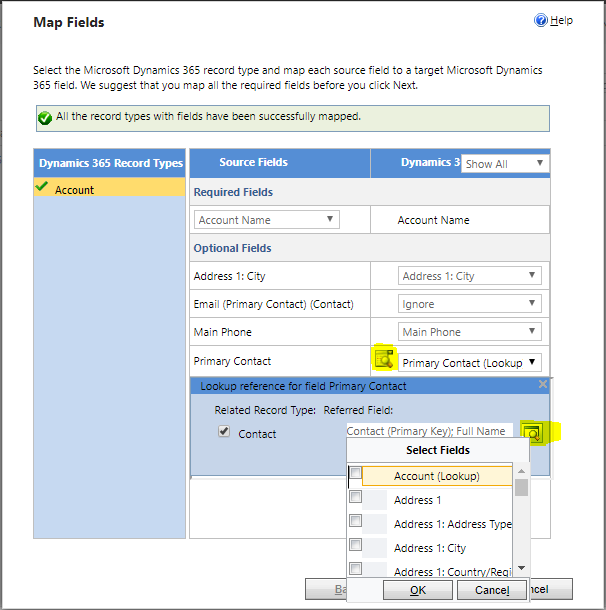 Import data with lookup references - Microsoft Dynamics CRM