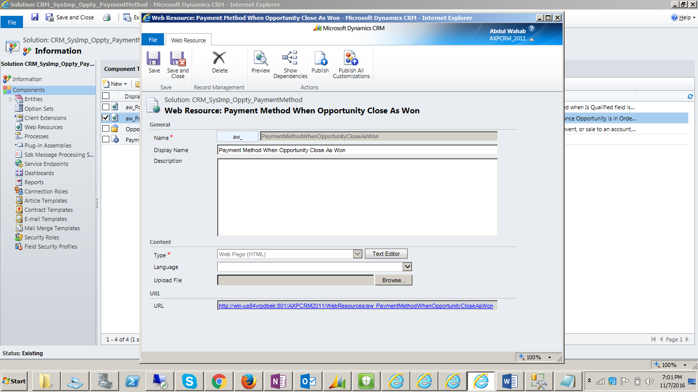 Query database from Web resource - Microsoft Dynamics CRM ...