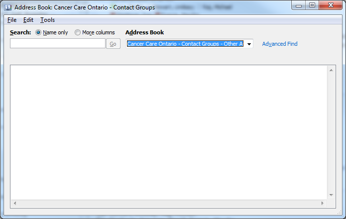 way to see crm contact groups in outlook address book microsoft
