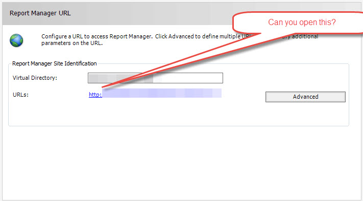 Setup failed to validate specified Reporting Services Report Server