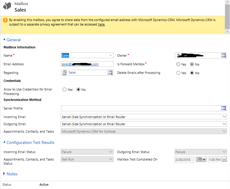 Forwarded and CC emails not going to queue - Microsoft