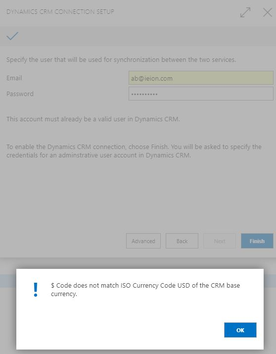 Code Does Not Match Iso Currency Code Usd Of The Crm Base Currency