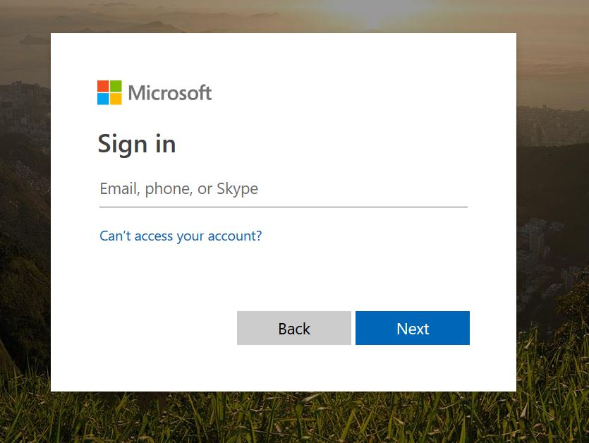 Dynamics Portal Login page - defaulting to Microsoft sign in page ...