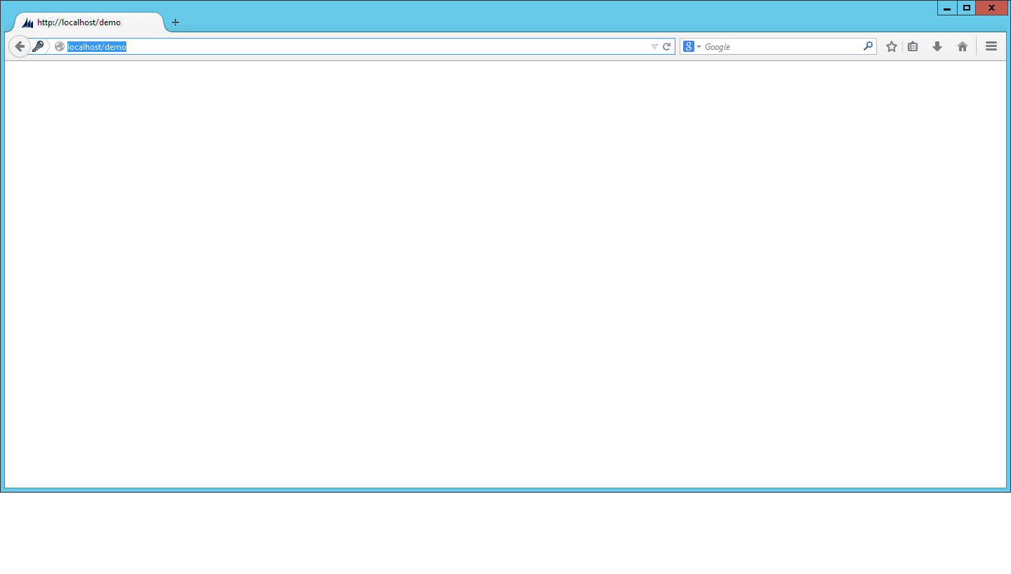 New to dynamics crm blank web page showing after a new for It web page