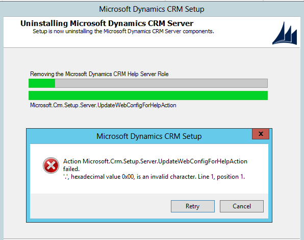 Unable to uninstall Dynamics CRM Server 2016 - Microsoft