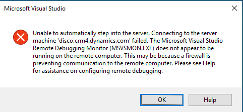 Can't connect to my Microsoft Dynamics 365
