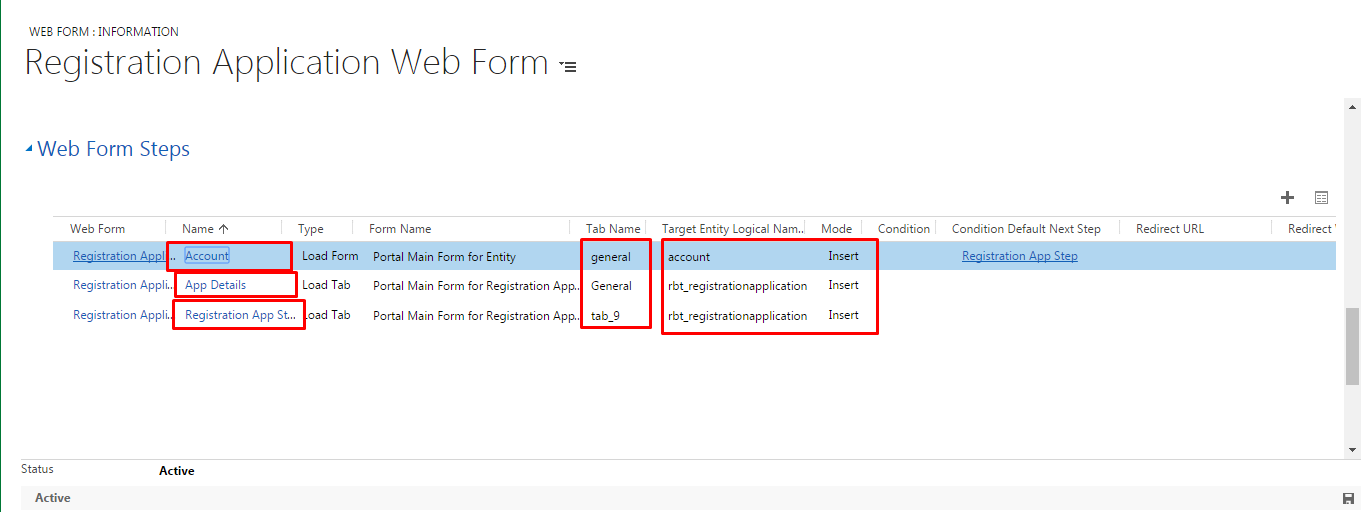 Web Form steps in Web Forms need to set in 365 CRM Portal