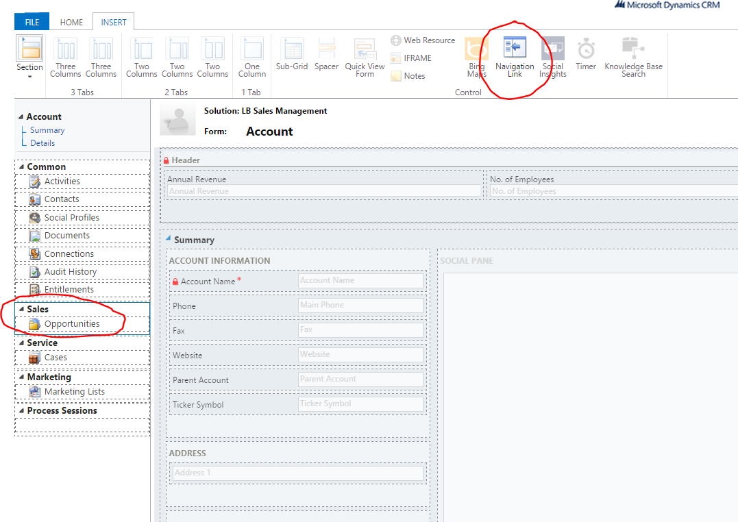 for dynamics crm online how to show leads for a account or contact