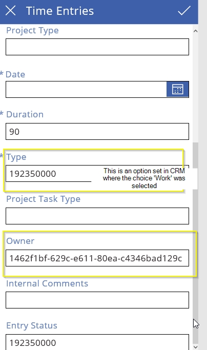 PowerApps   being able to display the logical data over the GUID's