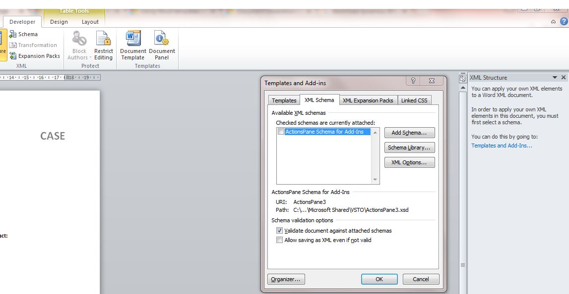 Word Template not showing XML Mapping - Microsoft Dynamics CRM Forum ...
