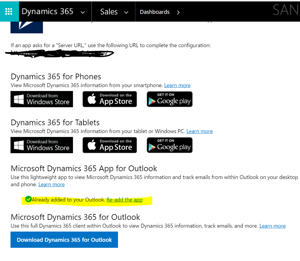 Missing Microsoft Dynamics App for Outlook - Microsoft