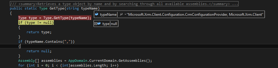 Microsoft Xrm Client assembly throws a