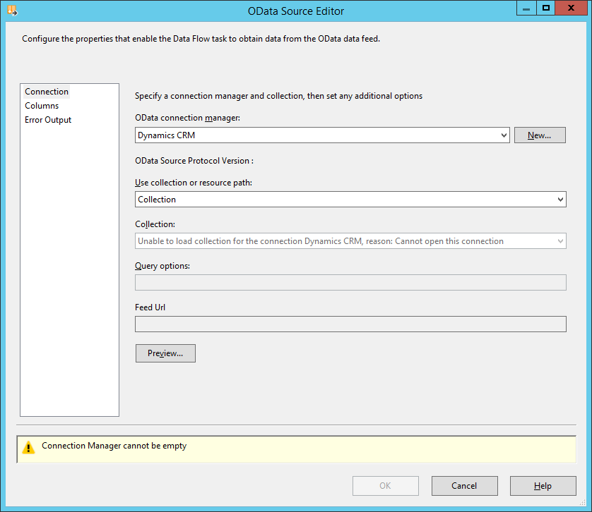 SSIS and OData - Connecting to CRM Online - Microsoft