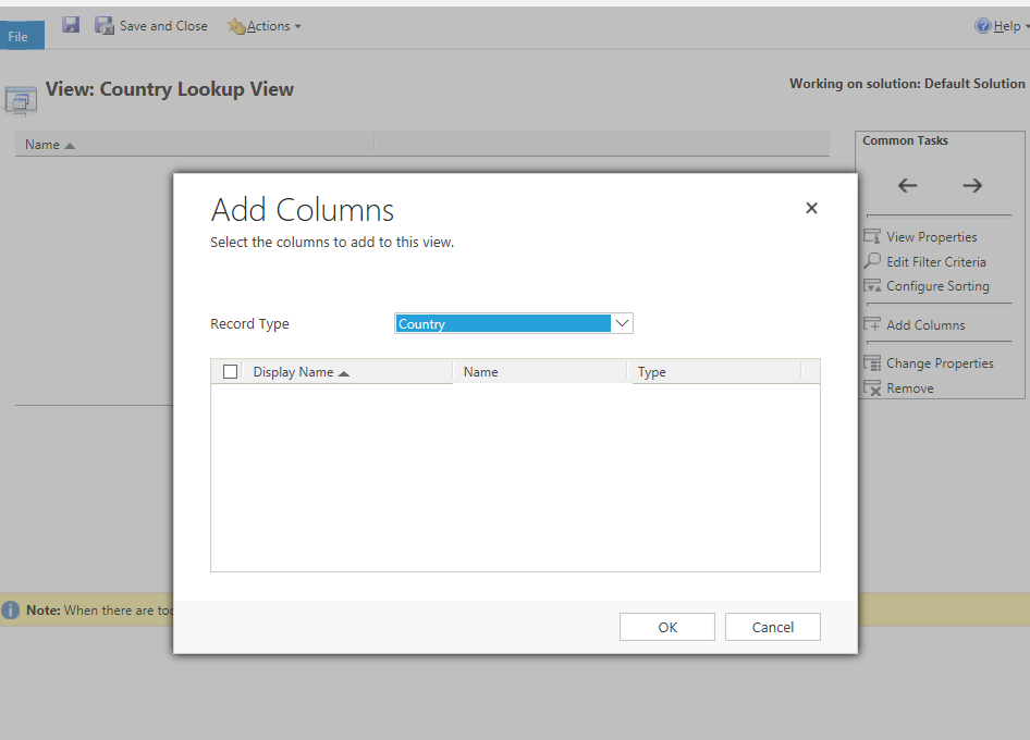 Lookup View Field not available - Microsoft Dynamics CRM Forum