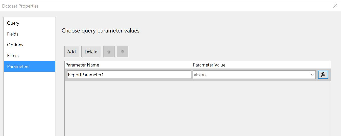 SSRS custom reports, how to filter by multiple field values