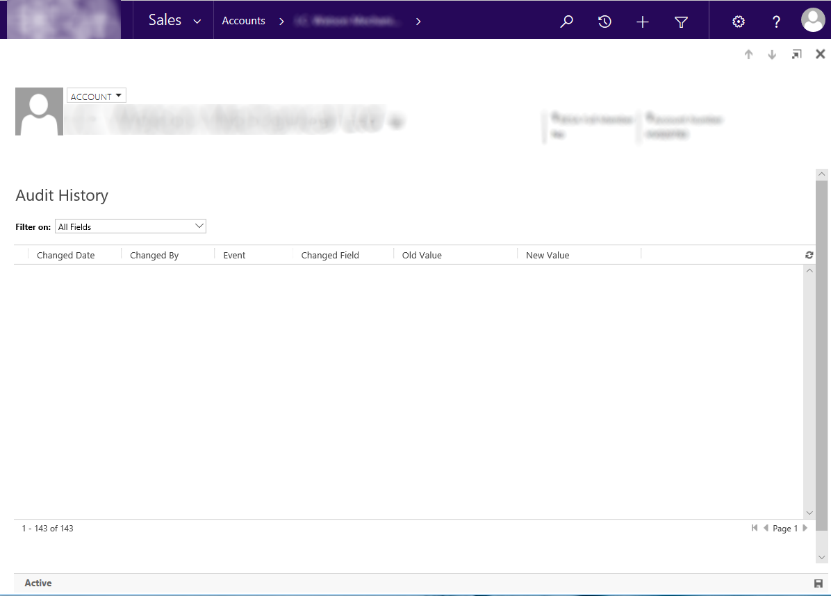 Audit History Text is Invisible - Microsoft Dynamics CRM