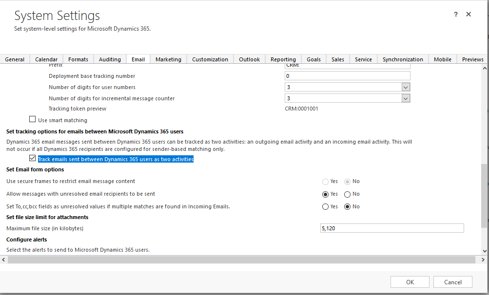 Disable Automatic Email Tracking? - Microsoft Dynamics CRM