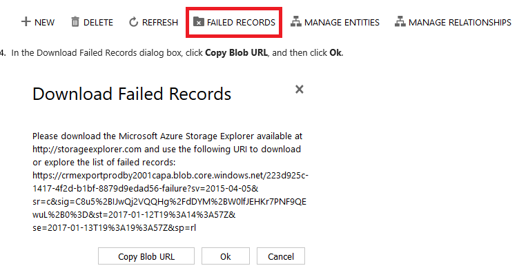 Data Export Service Failed Notification message not appearing