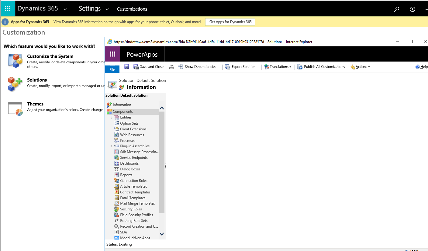 PowerApps ribbon replaced the